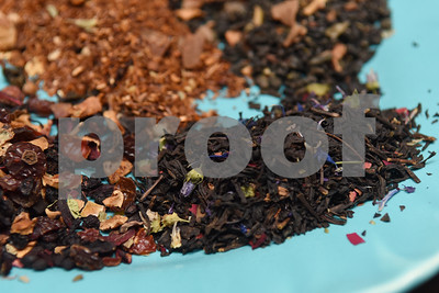 Teas such as Earl Gray, roasted almond chai, lemongrass and caramel apple are pictured at The Screen Door Antique Mall in Gladewater Wednesday Dec. 28, 2016. Owners Lola and Mark May sell hot and cold teas as well as coffee inside their shop.  (Sarah A. Miller/Tyler Morning Telegraph)