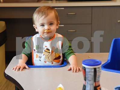Jett Rumbelow waits for his snack at Mother's Day Out, a drop-in day care, Tuesday Nov. 29, 2016 at First Christian Church in Tyler. The program in open for children age 0-6 Monday through Friday.  (Sarah A. Miller/Tyler Morning Telegraph)