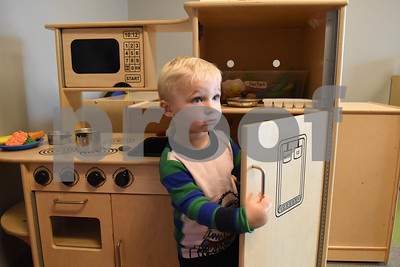 Owen Devine, 2, plays in the play kitchen at Mother's Day Out, a drop-in day care, Tuesday Nov. 29, 2016 at First Christian Church in Tyler. The program in open for children age 0-6 Monday through Friday.  (Sarah A. Miller/Tyler Morning Telegraph)
