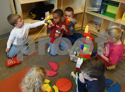 Children play with toys at Mother's Day Out, a drop-in day care, Tuesday Nov. 29, 2016 at First Christian Church in Tyler. The program in open for children age 0-6 Monday through Friday.  (Sarah A. Miller/Tyler Morning Telegraph)