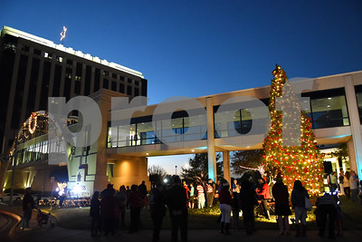 A new living Christmas tree is lit at East Texas Medical Center Tyler during the 29th annual Christmas tree lighting Tuesday, Nov. 29, 2016.  (Sarah A. Miller/Tyler Morning Telegraph)