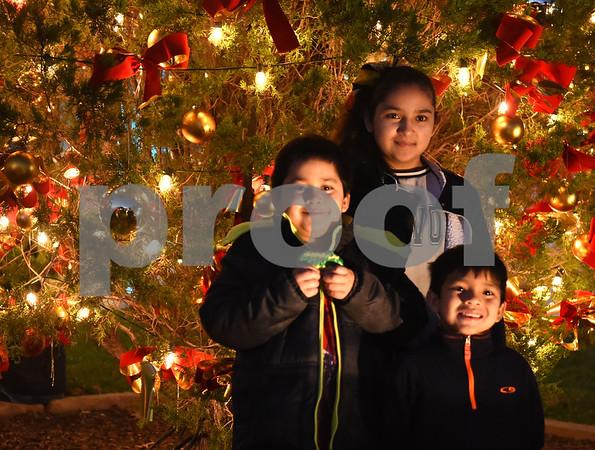 Children have their photo taken during the 29th annual East Texas Medical Center Tyler  Christmas tree lighting Tuesday, Nov. 29, 2016.  (Sarah A. Miller/Tyler Morning Telegraph)