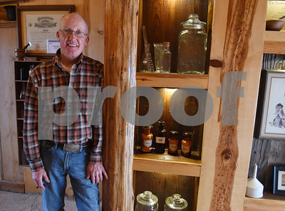 Donnie Lewis is pictured in the apothecary on his property, McNair Farm, in Athens. The property houses bees, an apothecary, a wedding venue and the 1873 Henderson County two cell jail.  (Sarah A. Miller/Tyler Morning Telegraph)