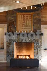 The fireplace inside of the dairy barn that has been converted into a wedding venue is pictured Tuesday Jan. 10, 2017 at McNair Farm in Athens.  (Sarah A. Miller/Tyler Morning Telegraph)
