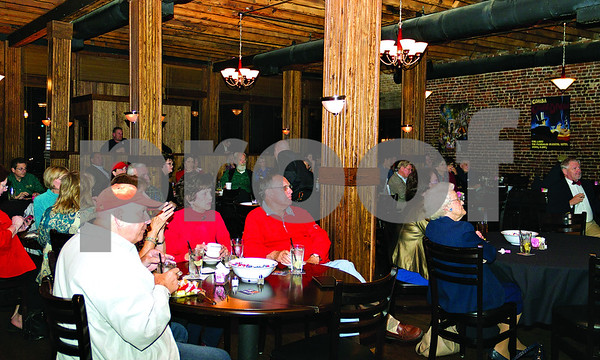 Smith County Republicans gather at Rick's on the Square in Tyler to watch election coverage.