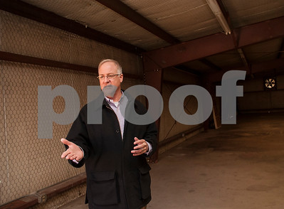 Tyler Mayor Martin Heines is pictured inside the building downtown that is being renovated for the Innovation Pipeline project.  (Sarah A. Miller/Tyler Morning Telegraph)