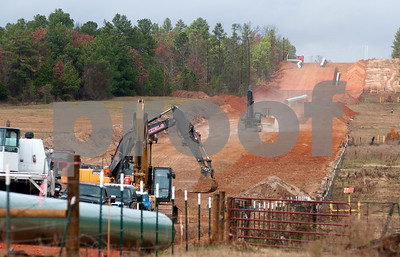 photo by Sarah A. Miller/Tyler Morning Telegraph  Crew work on contraction of the TransCanada Keystone XL Pipeline near County Road 363 and County Road 357, east of Winona, Texas Monday.
