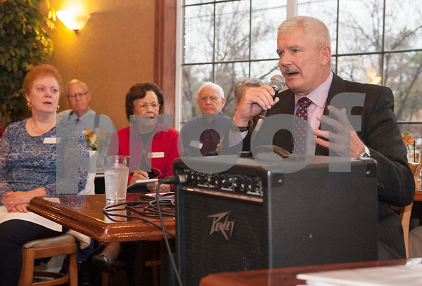 Chris Green, candidate for Smith County Sheriff, answers a question during a forum held by the Smith County Republican Women at Traditions Restaurant & Catering in Tyler Thursday Jan. 21, 2016.  (Sarah A. Miller/Tyler Morning Telegraph)