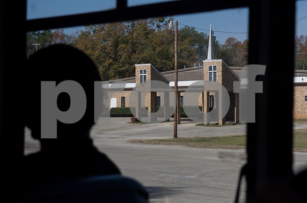 This present-day church once housed a black-owned bowling alley. It is seen out of the window of a Tyler Transit bus during the second annual Rosa Parks Day tour of historically significant areas of the city of Tyler on Friday Dec. 1, 2017. Tyler Transit Department and St. James CME Church hosted the free event which also included a program at the church and video presentation on African American history in the city of Tyler. Rosa Parks was known for refusing to give up her bus seat in the African American section of the bus to a white passenger when the whites-only section was full on Dec. 1, 1955 in Montgomery, Alabama.  (Sarah A. Miller/Tyler Morning Telegraph)