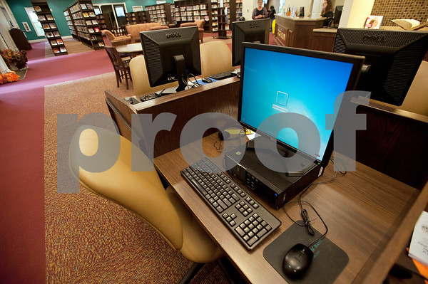 Computers are available for pubic use at the McMillian Memorial Library in Overton Wednesday Nov. 4, 2015. The library is part of the Rusk County Library System.  (Sarah A. Miller/Tyler Morning Telegraph)