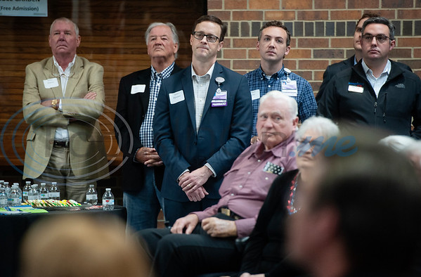An audience listens to Texas Rep. Dennis Bonnen, R-Angleton speak during a meet-and-greet in Tyler at the Rose Garden Center on Monday Dec. 17, 2018. Bonnen is the presumed speaker of the Texas House of Representatives.   (Sarah A. Miller/Tyler Morning Telegraph)