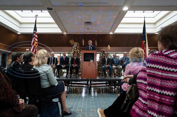 Texas Rep. Dennis Bonnen, R-Angleton, center, speaks during a meet-and-greet in Tyler at the Rose Garden Center on Monday Dec. 17, 2018. Bonnen is the presumed speaker of the Texas House of Representatives.   (Sarah A. Miller/Tyler Morning Telegraph)