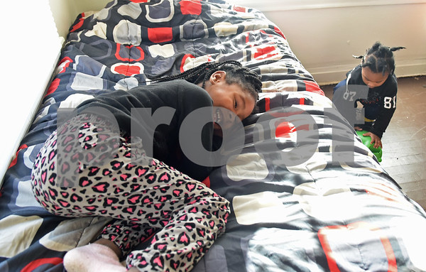 Destiny Edwards, 4, plays in her bedroom at her new home Monday Dec. 19, 2016 in Tyler. The family had previously been staying at the Salvation Army homeless shelter.   (Sarah A. Miller/Tyler Morning Telegraph)