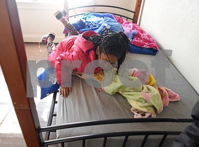 Destiny Edwards, 4,  jumps onto her bed at her new home Monday Dec. 19, 2016 in Tyler. The family had previously been staying at the Salvation Army homeless shelter.   (Sarah A. Miller/Tyler Morning Telegraph)