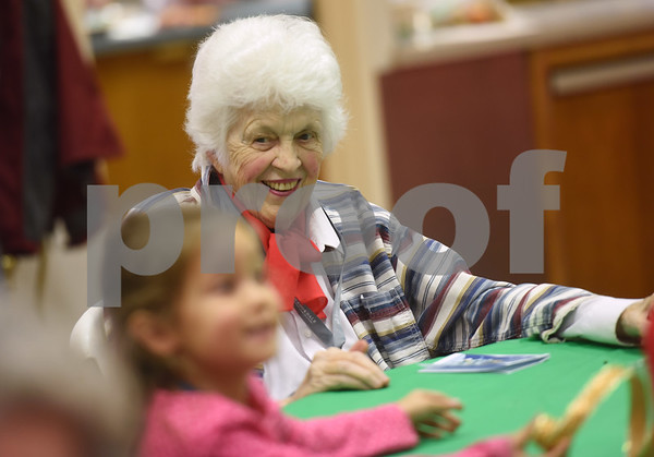 Jean Weatherly smiles during the Alzheimer's Alliance's Wonderful Wednesdays program Wednesday Dec. 14, 2016. Wonderful Wednesdays is a day club program that provides cognitive and social stimulation for individuals in the early or mid-stages of Alzheimer's disease and related dementias. It also serves as a break time for families and caregivers.   (Sarah A. Miller/Tyler Morning Telegraph)