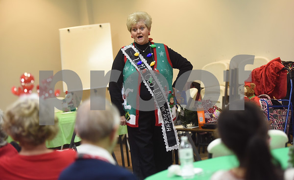 Comedian Carol Swanson performs during the Alzheimer's Alliance's Wonderful Wednesdays program Wednesday Dec. 14, 2016. Wonderful Wednesdays is a day club program that provides cognitive and social stimulation for individuals in the early or mid-stages of Alzheimer's disease and related dementias. It also serves as a break time for families and caregivers.   (Sarah A. Miller/Tyler Morning Telegraph)