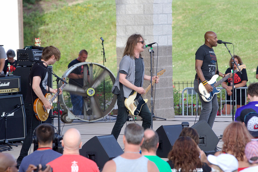 . he city of Mentor�s Fourth of July celebration was marked by the opening of its new amphitheater. After city officials delivered remarks during an opening ceremony, the band Soul Asylum rocked the crowd with a concert. (Jonathan Tressler - The News-Herald)