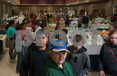 Students take a field trip to the East Texas Gem and Mineral Society's 22nd annual jewelry, rock, mineral and fossil show at the Tyler Rose Garden Center on January 26, 2018. The show continues through Jan. 28.  (Sarah A. Miller/Tyler Morning Telegraph)