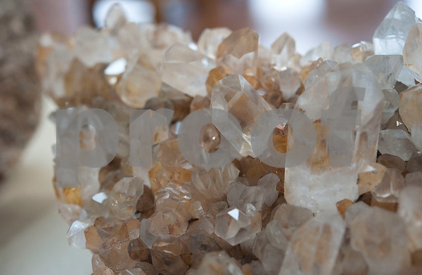 Quartz is on display at the East Texas Gem and Mineral Society's 22nd annual jewelry, rock, mineral and fossil show at the Tyler Rose Garden Center on January 26, 2018. The show continues through Jan. 28.  (Sarah A. Miller/Tyler Morning Telegraph)