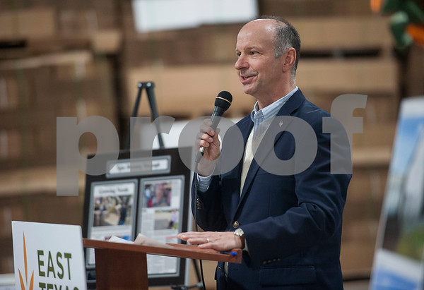 East Texas Food Bank CEO  Dennis Cullinane speaks during the groundbreaking ceremony for a new $3 million expansion for the The East Texas Food Bank on Wednesday Jan. 31, 2018.   (Sarah A. Miller/Tyler Morning Telegraph)