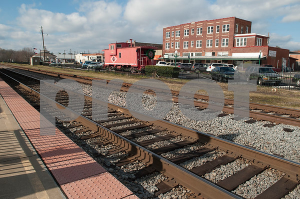 The train tracks near the Amtrak depot in downtown Mineola are pictured Thursday Jan. 7, 2016. Mineola's downtown features a variety of unique stores selling everything from food and coffee to antiques, clothes, guns, art and home decor.   (Sarah A. Miller/Tyler Morning Telegraph)