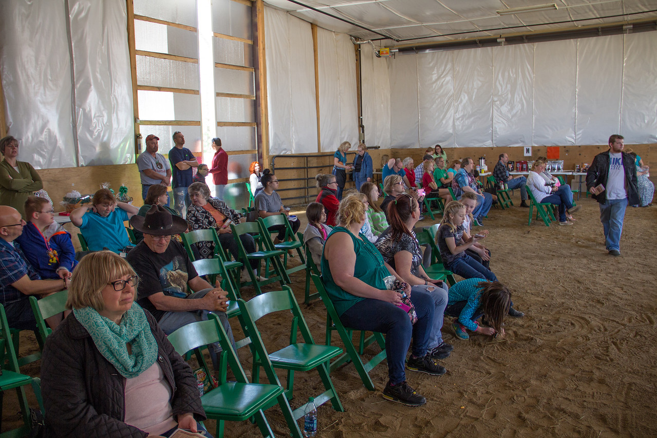 ALEC SMITH / GAZETTE Family and friends of riders enjoyed the Special Olympics Horse Show held Saturday at the Medina Creative Therapy Ranch event at 5200 Lake Road, Medina.