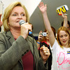 Globe/T. Rob Brown<br /> Claire McCaskill, candidate for senator, gets a show of hands as she speaks at the Jasper County Democrats headquarters on Main Street in Joplin Wednesday night, Nov. 1, 2006.<br /> Section: News