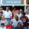Globe/T. Rob Brown<br /> Parents and students head out the front doors of Memorial Middle School Monday morning, Oct. 9, 2006, following a shooting at the school.<br /> Section: News
