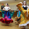 "Globe/T. Rob Brown<br /> Anthony Dominic, of Baxter Springs, Kan., (left) teaches Latin American to a class for ""Missions in Dance"" at Karen's Dance Studio in Joplin Monday night, May 1, 2006. Also pictured are dance students Stevi Selby, 13, (center) and Rebecca Whitsett, 15, (right) both of Joplin.<br /> Section: FAITH"