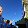 Globe/T. Rob Brown<br /> Fort Scott, Kan., Mayor Gary Billionis talks in front of city property which used to be a historic business building that burned, as seen Tuesday afternoon, Nov. 21, 2006, in downtown Fort Scott.<br /> Section: News Story: Wally K.