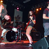 Globe/T. Rob Brown<br /> The Cast Pattern of Lawrence, Kan., a tech metal band, performs for a crowd at The Foundary as they opened for The Dillinger Escape Plan in Joplin Thursday night, July 27, 2006. Pictured from left are: Brian Denman on bass, Spencer Bates on drums, Jamakee Blackburn on rythem guitar and frontman Joe Brynds.<br /> Section: Enjoy