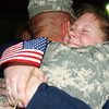 Globe/T. Rob Brown<br /> Carol King of Carthage hugs her brother Steve Armstrong of La Russell and a member of the 414th Military Police Company, upon Armstrong's arrival back from Iraq, at the U.S. Army Reserve Center in Joplin, Mo.<br /> Section: News