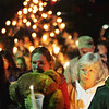 Globe/T. Rob Brown<br /> Colleen Spears of Stella, left, mother of the missing Rowan Ford, cries as she holds a Teddy bear and walks near the front of a candlelight vigil procession of more than 200 outside the Stella (Mo.) Baptist Church Tuesday night, Nov. 6, 2007. Spears' neighbor and friend Lisa Blevins walks with her at right.