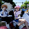 "Jeanie Miller and granddaughter, Shaye, of the Historical Hover Home, blow bubbles during the parade down Main Street in Longmont on Saturday.<br /> For more photos and a video of the parade, go to  <a href=""http://www.dailycamera.com"">http://www.dailycamera.com</a>.<br /> Cliff Grassmick / July 28, 2011"