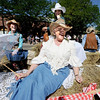 "Luella Lindqiust, joins the other ladies of the Historical Hover Home with a leisurely ride down Main Street during the Boulder County Fair Parade.<br /> For more photos and a video of the parade, go to  <a href=""http://www.dailycamera.com"">http://www.dailycamera.com</a>.<br /> Cliff Grassmick / July 28, 2011"