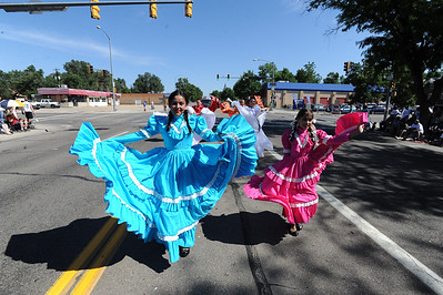 Members of the Nahucalli Casa Dela Danza perform during the Boulder County Fair Parade on Saturday. For more photos and a video of the parade, go to www.dailycamera.com. Cliff Grassmick / July 28, 2011