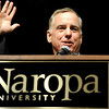 "Former Governor of Vermont and presidential candidate Howard Dean speaks to the crowd during Naropa's commencement ceremony on Saturday, May 7, at the Macky Auditorium on the University of Colorado campus in Boulder. For more photos and video go to  <a href=""http://www.dailycamera.com"">http://www.dailycamera.com</a><br /> Jeremy Papasso/ Camera"