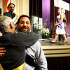 "Naropa University graduate Mark Lackey hugs Professor Robert Unger, Ph.D, after receiving his diploma during Naropa's commencement ceremony on Saturday, May 7, at the Macky Auditorium on the University of Colorado campus in Boulder. For more photos and video go to  <a href=""http://www.dailycamera.com"">http://www.dailycamera.com</a><br /> Jeremy Papasso/ Camera"