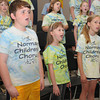 The Norman Childens Chorus is preparing for it's 20th anniversary program. Rehearsing are (front row, left to right) Campbell Yoder, Shawnda Henderson, Catherine Sullivan<br /> and (2nd row, left to right) Aidan Johnson, Delaney Yoder and Katie Kelly. Photo by Jerry Laizure