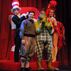 Students in the Weitzenhofer School of Musical Theatre will perform Seussical the Musical opening April 27. Some of the performers are (from left) Jamie Goldman as the Cat in the Hat; Brett Uram as Horton; Sean McGee as the Grinch and Sophie Menas as Mayzie. Photo by Jerry Laizure