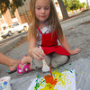 Keyra O'Rourke, 4, paints a picture at the Kid's Corner Friday evening  during the 2nd Friday Art Circuit.<br /> Kyle Phillips/The Transcript