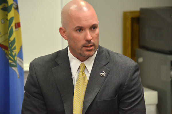 Callen Stephens, Task Force Coordinator for the U.S. Marshall's Office, talks to the media about an arrest in a case the departments have been following out of Cleveland County.<br />  Kyle Phillips/The Transcript