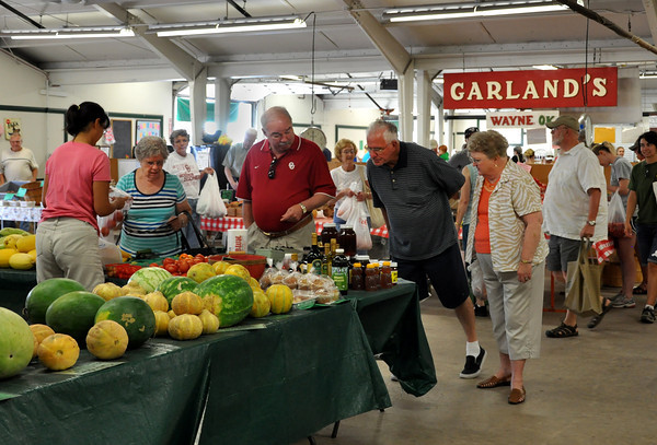 The Farmers Market is open to the public on Wednesdays and Saturdays from 9 to noon at the Cleveland Country Fairgrounds. The some of the products from the market includes home-grown vegetables and fruits, honey, spices, and flowers. Julie Bragg/ The Transcript