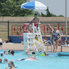 Lifeguard Brandon Couch watches swimmers at the Westwood pool. Jerry Laizure / The Transcript