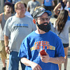 Chhung Leng shows his support for the team as he hangs out in Thunder Alley before the start of Oklahoma City's game against Miami in game one of the NBA Finals.<br /> Kyle Phillips/The Transcript