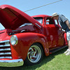 Jim Spearman checks out a 1948 Chevy Thriftmaster at Norman Community Church of the Nazarene's Car Show that benifits the church's student ministries mission trip.<br /> Kyle Phillips/The Transcript