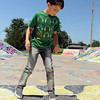 Nine-year-old Sam Harlow gets in some skateboard practice Monday, May 21, 2012, at the Blake Baldwin Skate Park in Andrews Park after the morning's rain turned into a afternoon of sunshine. Jerry Laizure/Transcript Photo