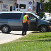 Norman police repond to a two-vehicle accident on 36th Avenue NW just north of the Robinson Street intersection.  According to Norman Police Capt. Tom Easley the preliminary investigation indicates the southbound vehicle, driven by a motorist with a learners permit, tried to make a left hand turn and in the process collided head-on with a vehicle travelling northbound on 36th Avenue NW.  Two people were taken to the hospital with non-life thretening injuries.  The driver of the southbound vehicke was cited for failure to yield while making a turn.<br /> Kyle Phillips/The Transcript