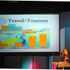"Maura Gast, executive director of Irving Convention and Visitors Bureau, told Norman hoteliers, business executives and city leaders Tuesday, May 8, 2012, that attracting visitors to the city is a good economic investment. ""What visitors do for our communities is provide immediate cash,"" Gast said. <br /> Visitors bring immediate cash and unbiased word-of-mouth recommendations for your city. Photo by Jerry Laizure"