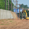 Workers continue contruction on the I-35 sound wall Project from Main Street to approximately 1200 feet north of Lindsey Street.  The project is anticipated to be complete by early fall.<br /> Kyle Phillips/The Transcript